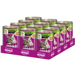 Whiskas Adult 1+ mit Lamm in Sauce 12x400g