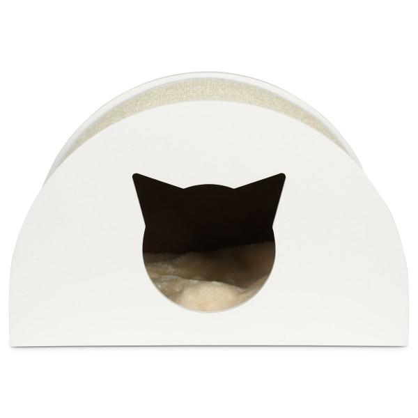 ZooRoyal Katzenhöhle Moon 48,5 cm weiß