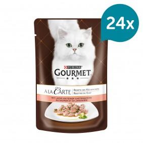 Gourmet A la Carte Lachs an feinem Gartengemüse