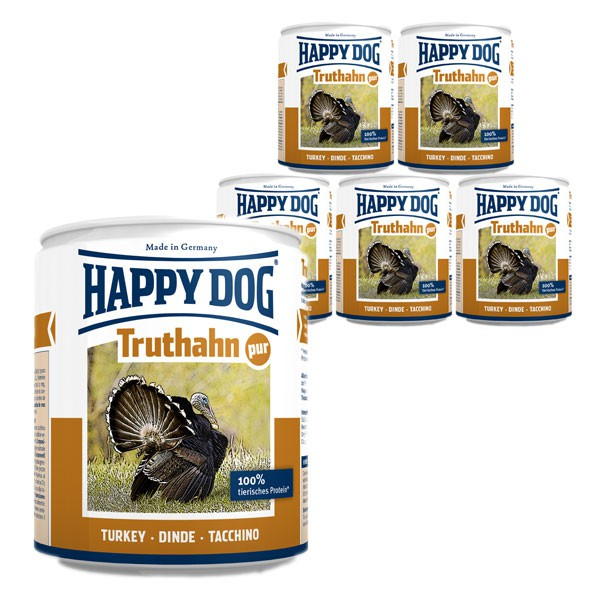 Happy Dog Truthahn Pur 6x800g
