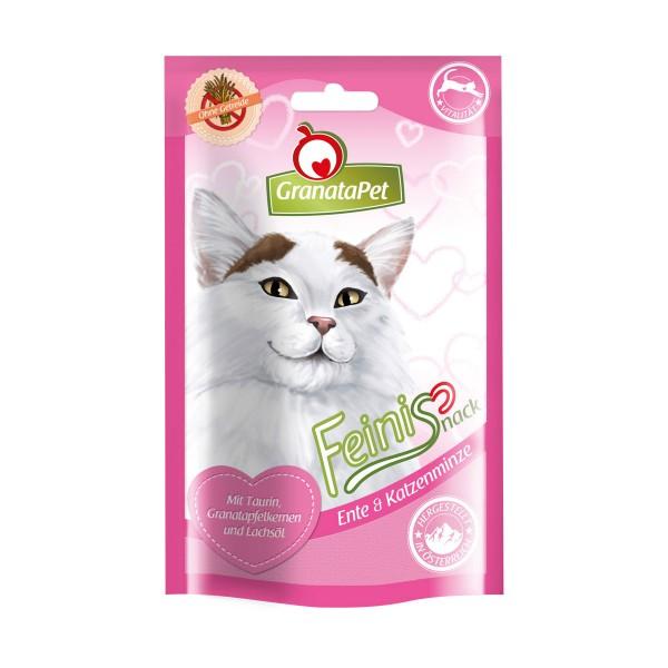 GranataPet Katzensnack Feinis Ente & Katzenminze 50g