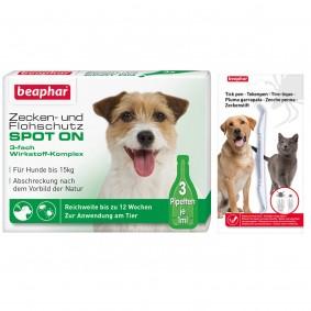 beaphar Spot On Tropfen für kleine Hunde + Zeckenstift gratis