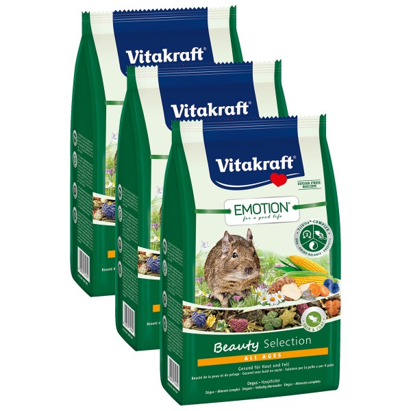 Vitakraft Emotion Beauty Selection Degus 3x600g