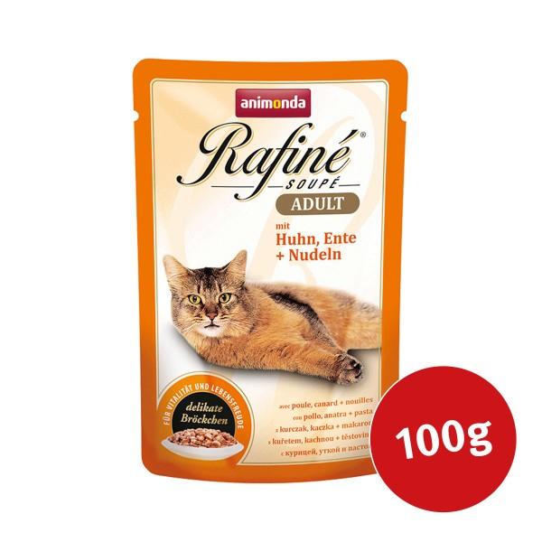 Animonda Katzenfutter Rafiné Soupé Adult mit Huhn, Ente & Nudeln