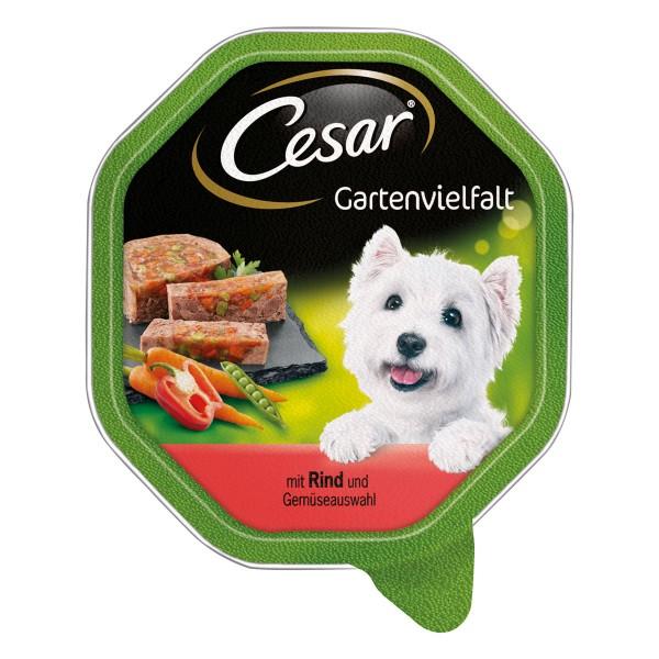 Cesar Gartenvielfalt mit Rind und Gemüseauswahl 24x150g
