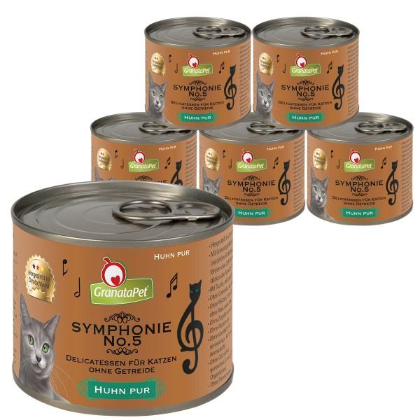GranataPet Katzen-Nassfutter Symphonie No. 5 Huhn pur 6x200g