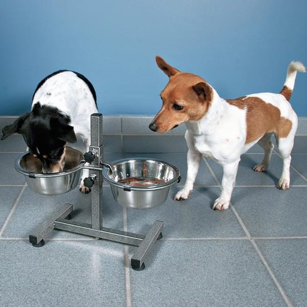 Trixie Hundebar mit 2 Edelstahlnäpfen