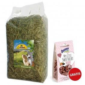 JR Farm Bergwiesen-Heu 2,5kg + Bunny My little Sweetheart Waldfrucht 30g gratis