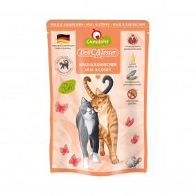 GranataPet Katze - Delicatessen Pouch Kalb & Kaninchen