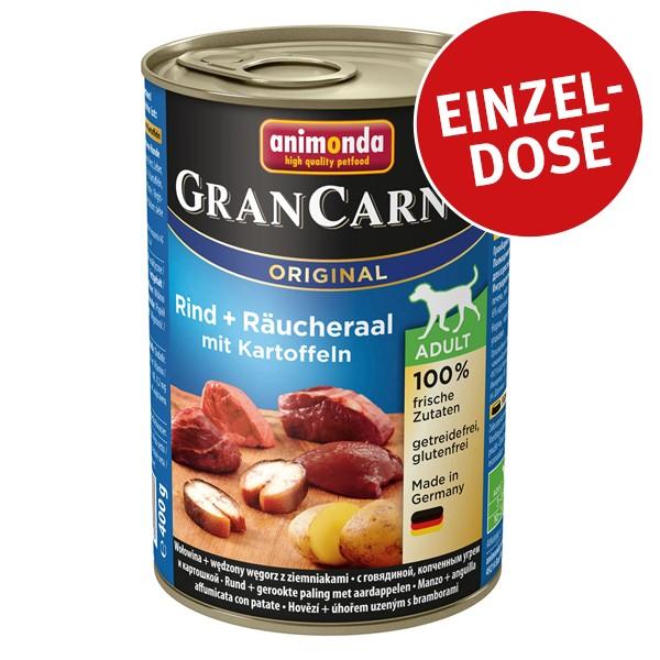 Animonda GranCarno Original Adult Rind und Räucheraal mit Kartoffeln 400g