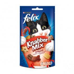 Felix Knabber Mix Katzensnack 60g Grillspaß 2+1 Gratis