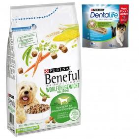 BENEFUL Wohlfühlgewicht 12kg + 2x Dentalife Medium GRATIS