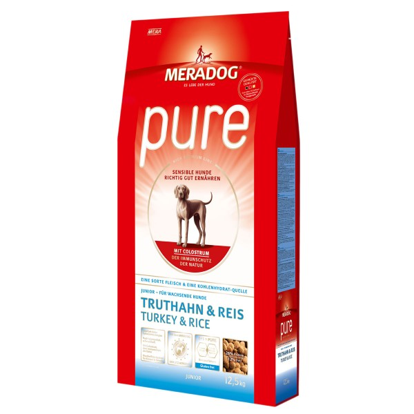Mera Dog pure Junior Truthahn und Reis