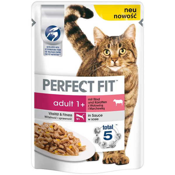 Perfect Fit Katzenfutter Adult mit Rind & Karotten