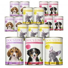 Dog's Love Hunde-Nassfutter Junior Mega Mixpaket 36x200g