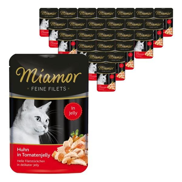 Miamor Katzenfutter Feine Filets Huhn in Tomatenjelly 24x100g