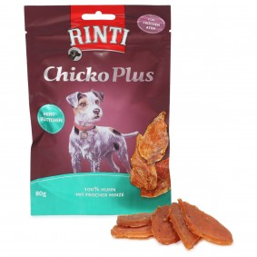 RINTI Extra Chicko Plus Mintblättchen mit Huhn