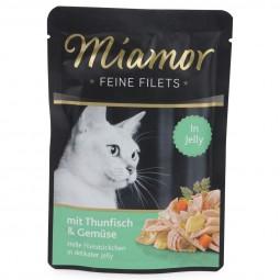 Miamor Feine Filets Standbeutel Thunfisch und Gemüse