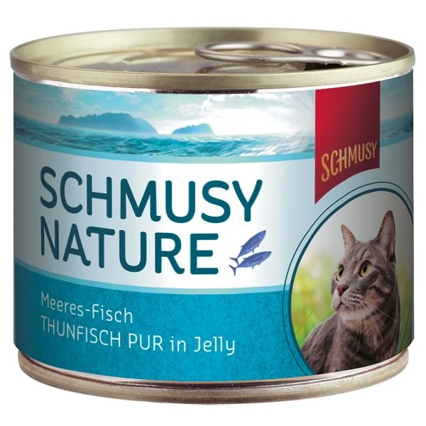 Schmusy Katzenfutter Nature Meeres-Fisch Thunfi...