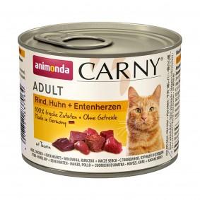 Animonda Katzenfutter Carny Adult Rind, Huhn und Entenherzen