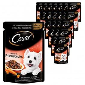 Cesar Feines im Frischebeutel mit Rind & Karotten in Sauce 24x100g