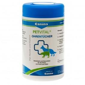 Canina PETVITAL utěrky na čištění uší, 120 kusů