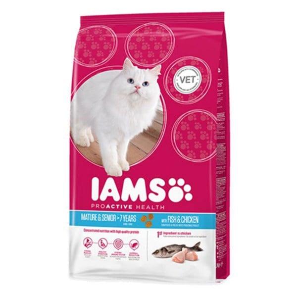 IAMS Katze Trockenfutter Mature & Senior Fisch