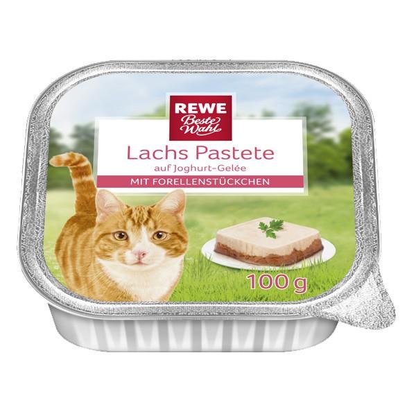REWE Beste Wahl Katzenfutter Lachs Pastete mit ...
