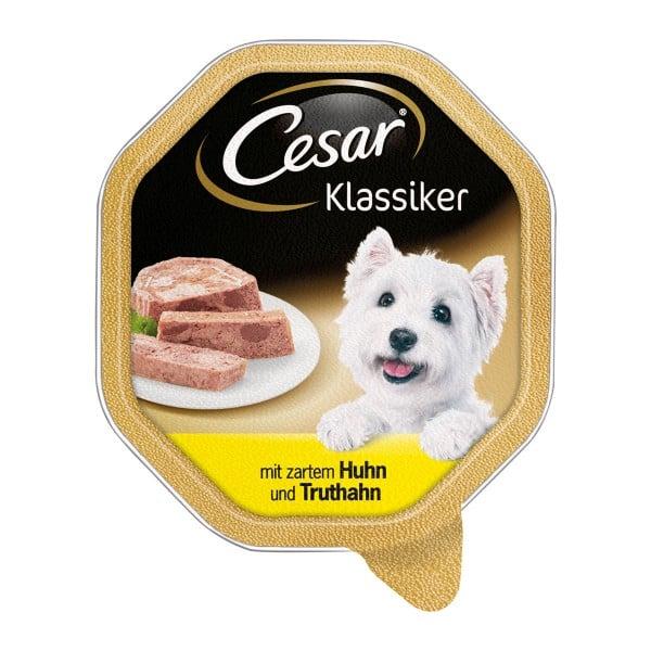 Cesar Klassiker mit zartem Huhn und Truthahn 14x150g