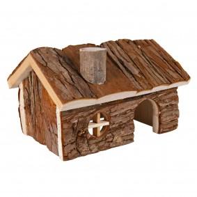Trixie Haus Hendrik für Hamster aus Rindenholz