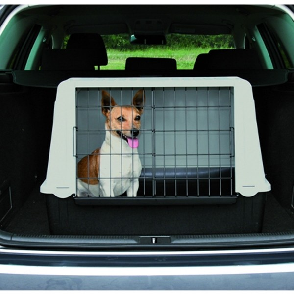 Trixie Traveller 72 Hundebox grau/schwarz
