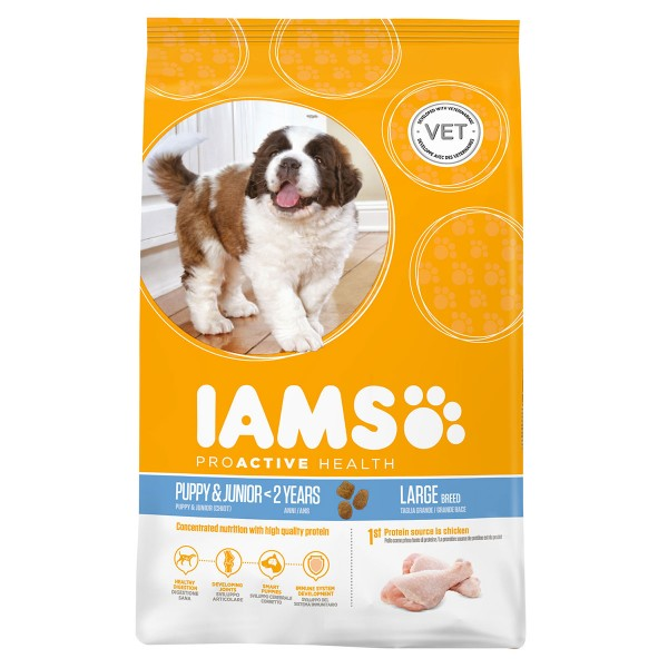 IAMS DOG Puppy & Junior Large Breed Chicken 3kg