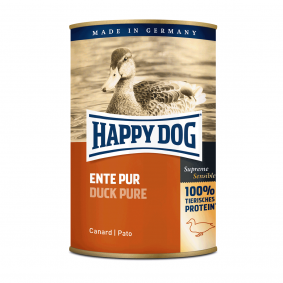 Happy Dog Hundefutter Ente Pur 24x400g