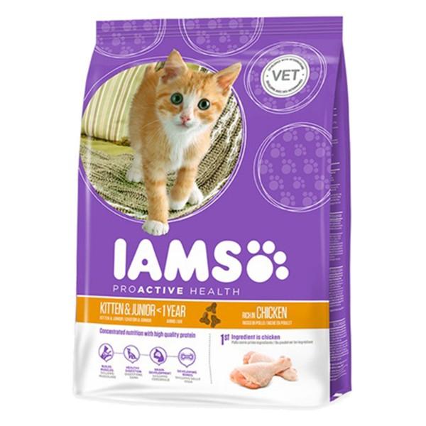 IAMS Katze Trockenfutter Kitten & Junior Huhn -...
