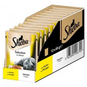 Briesen Angebote Mars Sheba Selection in Sauce mit Huhn - 12x85g