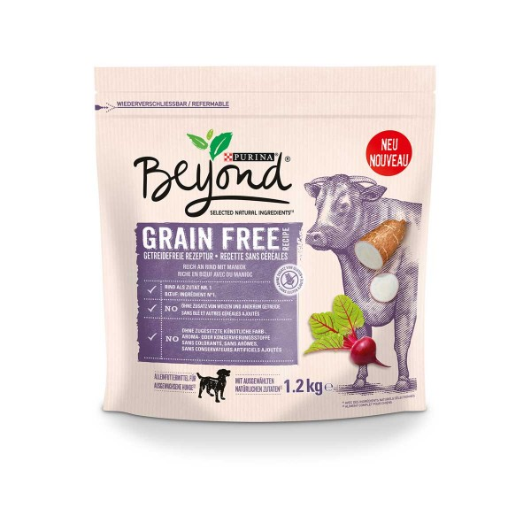 Purina BEYOND® Getreidefrei reich an Rind mit Maniok 1,2kg