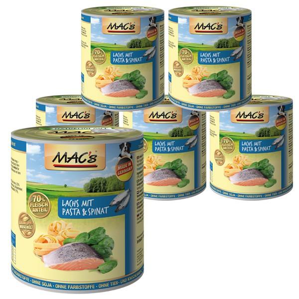 MAC's Dog Lachs mit Pasta & Spinat