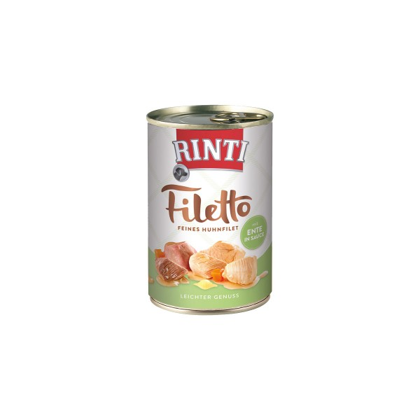 Rinti Hundefutter Filetto Huhn & Ente in Sauce 420g
