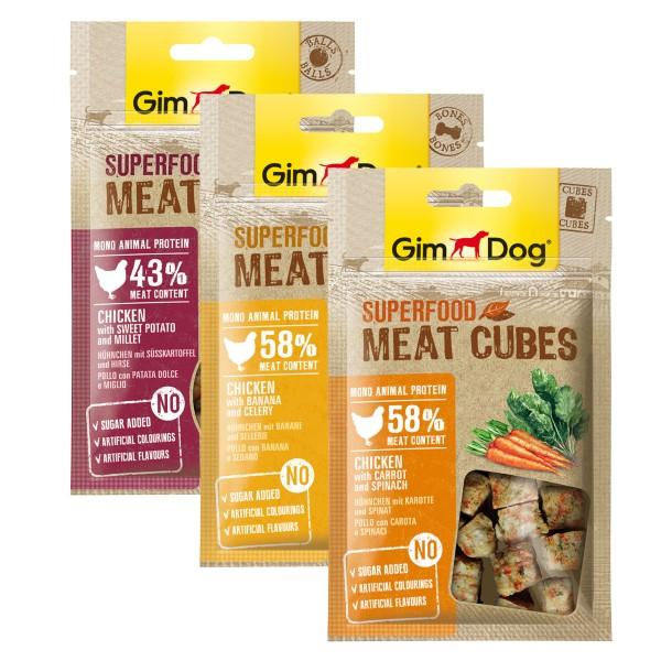 GimDog Superfood Meat Snacks 3er Mix 180g