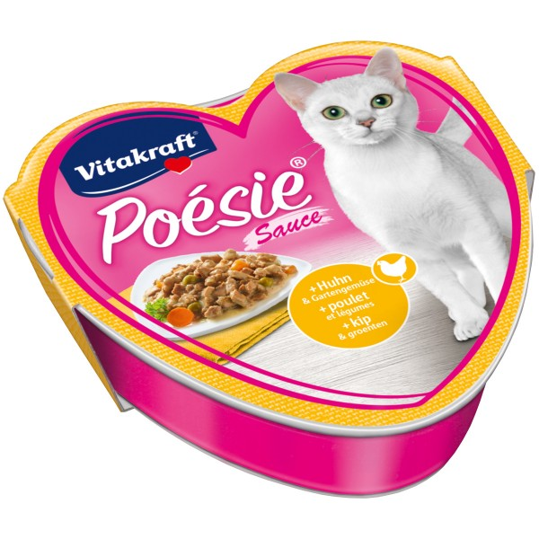 Vitakraft Katzenfutter Poésie mit Huhn und Gartengemüse in Sauce