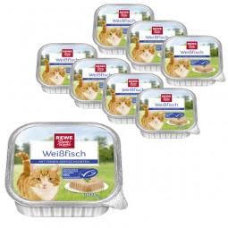 REWE Beste Wahl Katzenfutter Weißfisch mit feinen Seefischsorten MSC