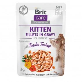 Brit Care Cat Kitten-Fillets in Gravy Tender Turkey