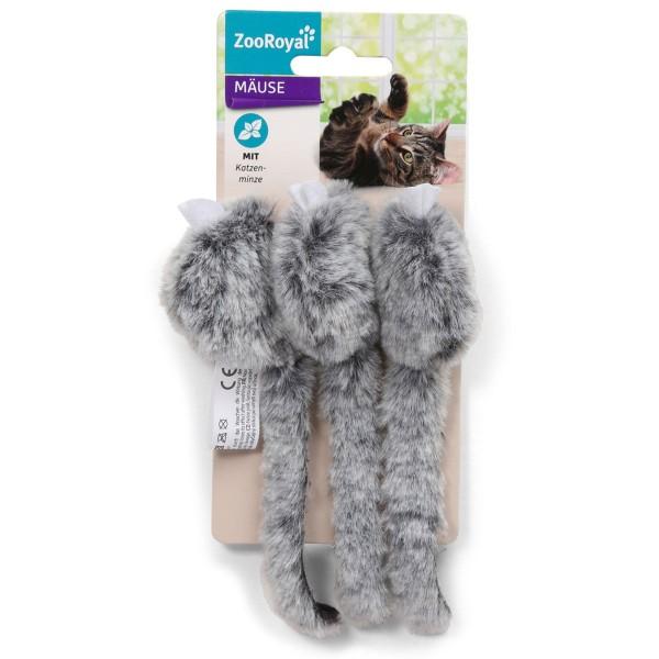 ZooRoyal Spielmäuse mit Katzenminze 3er Set