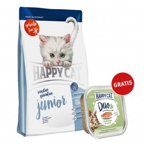 Happy Cat Sensitive Grainfree Junior 300g plus Paté Geflügel & Lamm 100g