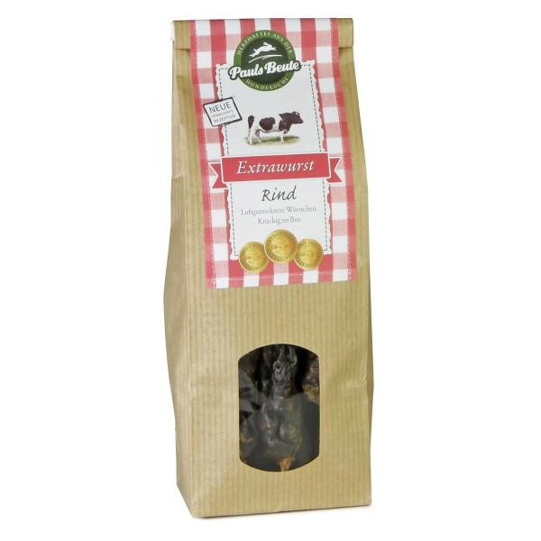 Pauls Beute Hundesnack Extrawurst Rind 200g