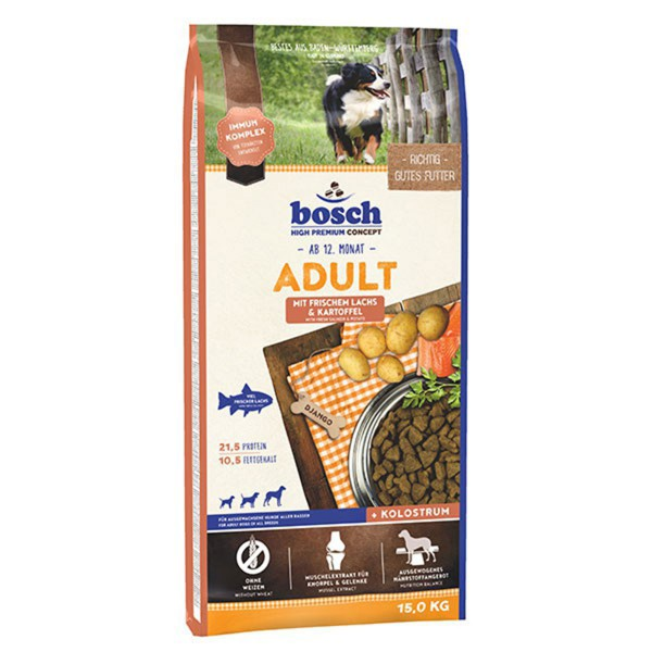 bosch hundefutter adult lachs kartoffel kaufen bei zooroyal. Black Bedroom Furniture Sets. Home Design Ideas