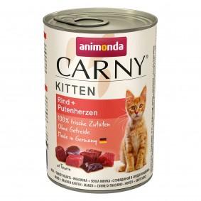 Animonda Katzenfutter Carny Kitten Rind und Putenherzen