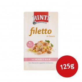 Rinti Hunde-Nassfutter Filetto in Sauce Huhn und Kalb