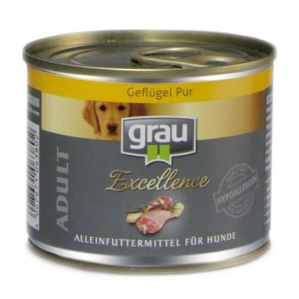 Grau Hundefutter Excellence Adult Geflügel pur