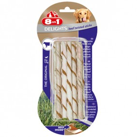 8in1 Hundesnack Delights Beef Twisted Sticks
